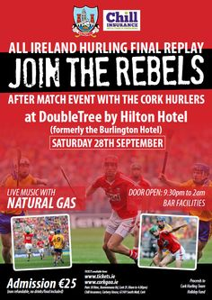 Join the Rebels following the All-Ireland Hurling Final replay! Replay, Live Music, Finals, Rebel, Ireland, Join, Events, Baseball Cards, News