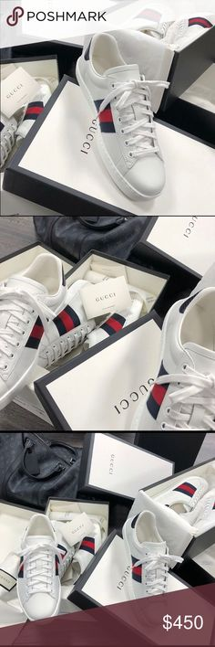 94d50159a02b29 🇧🇬🇧🇬Gucci Ace GG Sneakers Original🇧🇬🇧🇬 🔵🔴Brand New Deadstock 100% Authentic  Original Box Tags Receipts and DustBags Included Men s   Women s Sizes ...