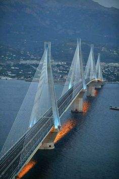 The Rio-Antirio Bridge, Patras, Greece, from Iryna