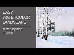 Easy Watercolor Landscape - YouTube