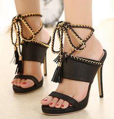 e4587816be68ae  36.39 ~ Women Pumps High Heel Sandals Gladiator Sandal Shoes Party Dress  Shoe Woman Black Women
