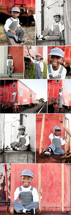 I cannot stand the cuteness!! Train Photoshoot by KatieSmithPhotography.com