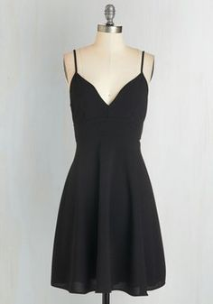 Tour de Dance Dress. Whether you take to the tango, the foxtrot, the waltz, or the Charleston, youll step in style while wearing this black dress! #black #modcloth