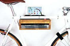 Wooden bike storage