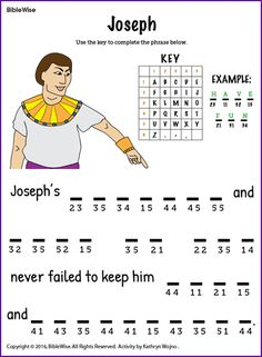 Joseph's honesty and love of God never failed to keep him safe and prosperous - Biblewise
