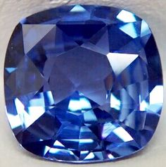 blue sapp. 2.184 ct. SQ.CU with CERTLAK