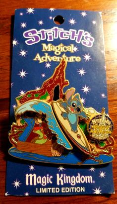 Stitch's Magical Adventure Splash Mountain Disney Pin Limited Edition 2000 WDW