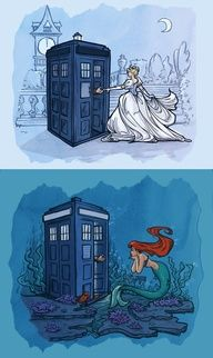 Disney Princesses and the Tardis. WE CANNOT LET THIS HAPPEN!!!!!! I dont why, but IT MUST NOT!