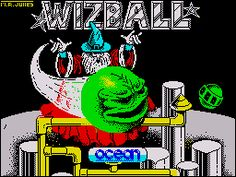 Wizball - early loading screen design by Mark R Jones Game Programmer, Arcade Machine, Childhood Days, Screen Design, Games To Play, Spectrum, Retro Games, Memories, Consoles