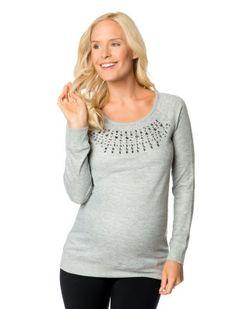7cc20cf380 Motherhood Maternity Raglan-Sleeve Beaded Sweatshirt - Shop All Maternity -  Women - Macy s