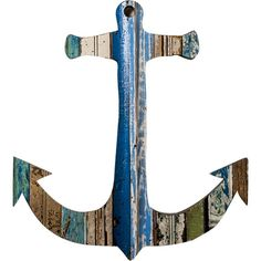 Recycled Anchor Wall Art: Coastal Home Decor, Nautical Decor, Tropical Island Decor & Beach Furnishings