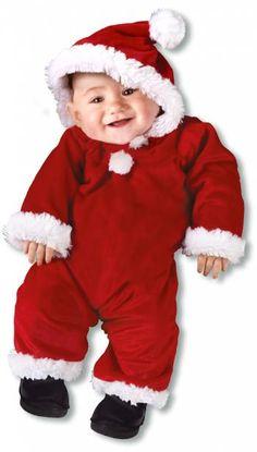 Weihnachtsmann Babykostüm L