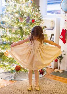 gold dot christmas dress - skirt as top