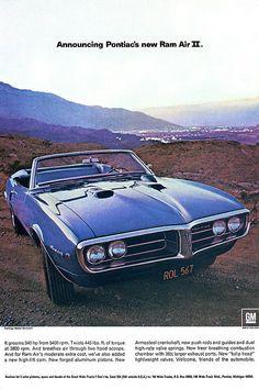 1968 Pontiac Firebird 400 ad poster