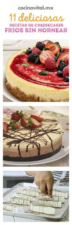 11 delicious recipes of cold cheesecakes without baking If you want to prepare . Cheesecakes, Paul Cakes, Chocolates, Cheesecake Cake, No Cook Desserts, Some Recipe, Great Recipes, Delicious Recipes, Baking Recipes