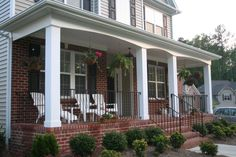 front porch ideas | It includes porch designs for front porch additions, covered porches ...