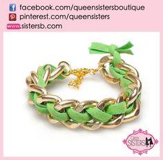 #bracelet #shackles #green