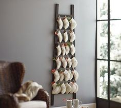 Stocking Ladder Advent Calendar #potterybarn