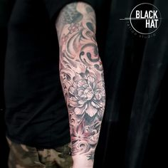 This is a beautiful Japanese Sleeve done by Sergy @blackhatsergy in 2019. . Try an online consultation with Sergy! . #japanesetattoo #tattoodublin #sleevetattoo #tattoooftheday #dublin Japanese Tattoo Art, Japanese Sleeve Tattoos, Tattoo Dublin, Life Tattoos, Tattoo Artists, Black And Grey, Photo And Video, Ireland, Hat