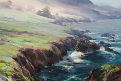 Dan Gerhartz is known for his painterly, sweeping landscape paintings depicting nature's beauty. art for the home, romantic paintings, original art, original oil paintings, art by Dan Gerhartz, home decor, landscape paintings, seascapes