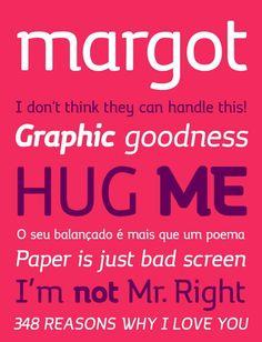 free fonts 2014 Margot