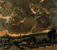 'Schmerzhaften Landschaft', öl auf leinwand von André Derain (1880-1954, France)