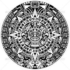 Mayan Calendar by sateda2012 Vector of Mayan calendar on white background. Package contains: EPS (10 version), JPG (5000×5000 pixels, RGB )
