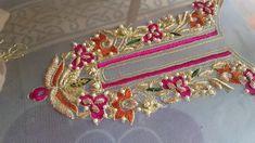 Hand embroidery: zardosi work/ resham /tila/ pearls wedding dress part 1 Zardosi Embroidery, Pearl Embroidery, Hand Embroidery Dress, Embroidery Suits Design, Tambour Embroidery, Embroidery Works, Couture Embroidery, Indian Embroidery, Embroidery Fashion
