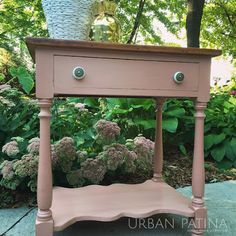 Urban Patina: Rescued Relics + Upcycled Junk: Side table