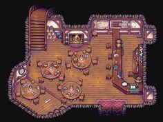Inhouse scenen - pixelart
