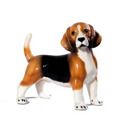 """Beagle by Intrada Italy 12""""H-Standing Beagle statue 12 inches long.  Beautiful ceramic sculpture hand made in Italy by skilled artisans.  Rich in detail and colors.  Patterns and colors may vary slightly. Ships FREE in continental USA Dimensions:  12""""L Item # 11044 Price: $139.00"""