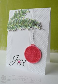 Lostinpaper - ABS ff022 Joy bauble card