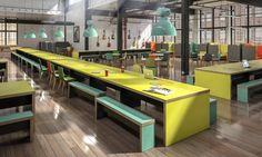 Inspired breakout furniture. This can be specified to any length and looks fantastic in any work place.