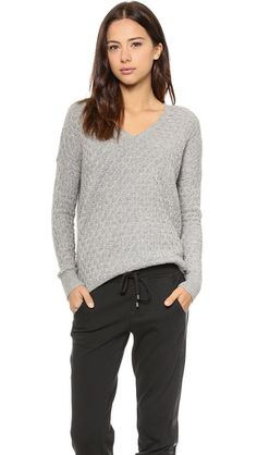 textured knit gray sweater from Vince