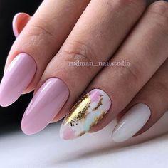 Pink-purple nailart,spring nails