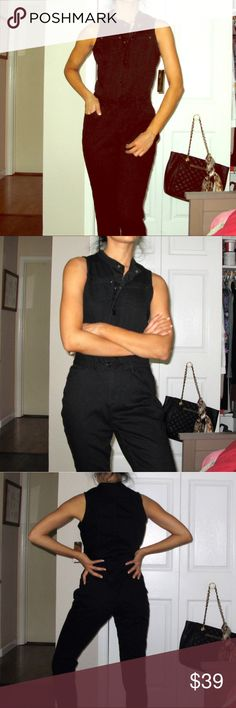 Nicki Minaj utility black Jean jumpsuit size 5/6 Brand new with tags Nicki Minaj black denim jumpsuit button up and fly zip belted. Straight leg. Size juniors 5/6 or medium. nicki minaj Pants Jumpsuits & Rompers