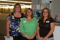 State Library of Ohio staff provided tours of the library and helped with the exhibitors table featuring the Talking Book Program services and equipment. L to R: Paula Buco (SEO), Ashlee Tominey, and Shannon Kupfer.