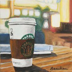 Starbucks Starbucks Shop, Best Starbucks Coffee, Best Coffee, I Love Coffee, Coffee Art, My Coffee, Coffee Time, Chicago Coffee Shops, Art Painting Gallery