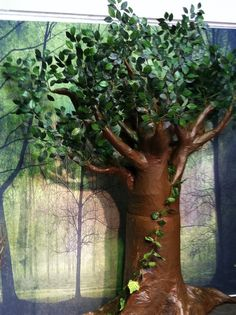 paper mache baobab tree | then add your paper lots of it lots of layers i started with big ...