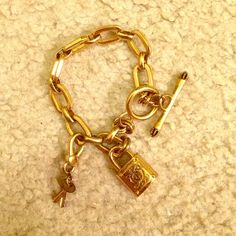 "Juicy couture charm bracelet Gold juicy couture charm bracelet NO TRADES please use the offer button to negotiate ️️ friendly. please use the offer button to negotiate, not the comments. Don't ask ""lowest?""  I will ignore you! Thank you  Juicy Couture Jewelry Bracelets"