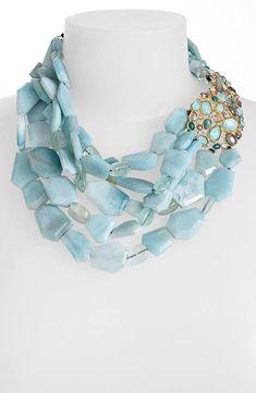 Alexis Bittar 'Elements - Kiwi Cluster' Multistrand Necklace in aquamarine Beaded Jewelry, Jewelry Box, Jewelery, Jewelry Accessories, Fashion Accessories, Jewelry Necklaces, Handmade Jewelry, Beaded Necklace, Fashion Jewelry