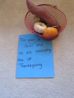 Thanksgiving timeline activity