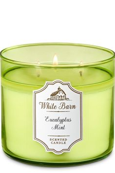 White Barn Eucalyptus Mint Candle - Bath And Body Works
