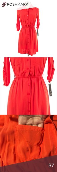 67d28519c5f Bright Pink BCX Dress Bright pink coral button up dress with sleeves. Hits  me right above the knee and I am Only worn a couple times and purchased  from ...