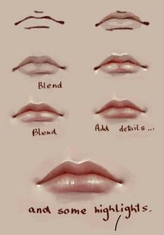 New digital art tips blending Ideas Digital Painting Tutorials, Digital Art Tutorial, Painting Tips, Art Tutorials, Painting & Drawing, Digital Paintings, Lips Painting, Painting Portraits, Drawing Drawing