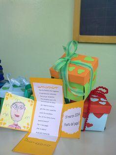 Festa del papà 2014 Origami, I Love School, Spring School, Puppet Crafts, Box Patterns, Father's Day Diy, Daddy Gifts, Fathers Day Crafts, Mothers Day Cards