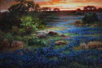 Preston Art located in the strip center at Preston Road and Forest Lane (northeast corner) shows off Texas Bluebonnet painting.   www.FirstClassDallas.com Texas Bluebonnets, Blue Bonnets, Preston, Dallas, Corner, Gallery, Painting, Ideas, Art