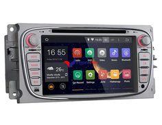 Lecteur autoradio DVD GPS Navigation pour voitures Ford (argent)