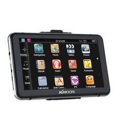 KKMOON 7 HD Touch Screen Portable GPS Navigator 128MB RAM 4GB ROM FM MP3 Video Play Bluetooth Car Entertainment System with Handwriting Pen +Free Map