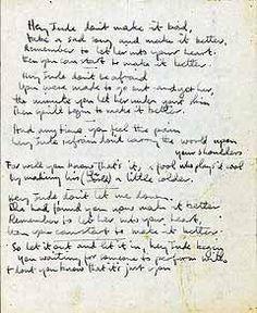 lyrics Hey Jude - the beatles